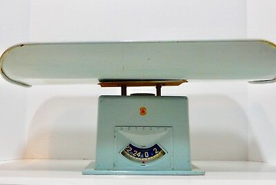 HOME DECOR Vintage Baby Scale Robins Egg Blue made in USA DETECTO 1950's