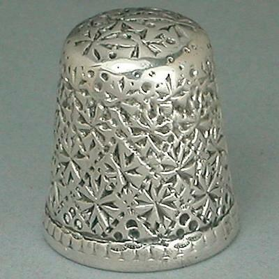 Antique Sterling Silver Thimble by Ketcham & McDougall * Circa 1880s