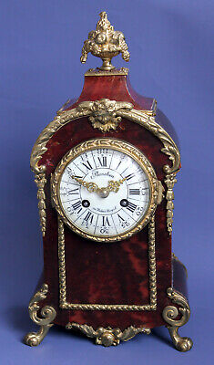 Very fine FRENCH Planchon au Palais-Royal BOULLE MANTEL CLOCK PARIS ca. 1870