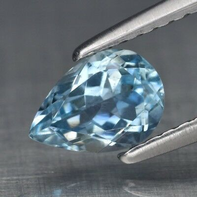 0.64ct 7x5mm Pear Natural Unheated Blue Aquamarine, Nigeria