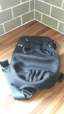 Puppy carrier backpack in black mesh size extra large