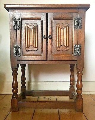 "Old Charm Furniture ""Pedestal Cabinet"" Echtholz Eiche Kommode"
