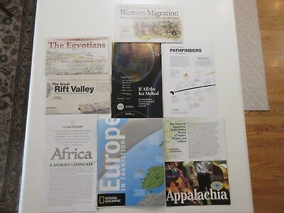 Lot of 8 Maps, Mostly National Geographic