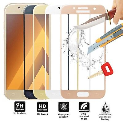 FULL COVER SAMSUNG Galaxy S7 A8 A5 A3 J7 J5 J3 Tempered Glass Screen Protector