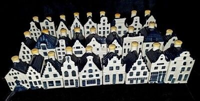 LOT OF 27 KLM BOLS BLUE DELFT PORCELAIN HOUSES Amsterdam Sinels Canal Other GUC