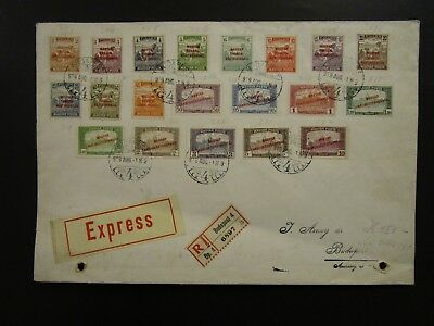 Luxembourg 1954 Registered Airmail Cover to USA / Small Side Tear - Z6314