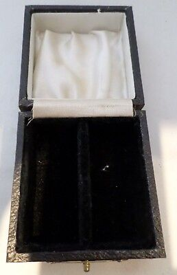 Vintage double napkin ring box, silver/EPNS