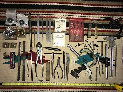 Large lot of Machinist Tools, Parts  Pieces BROKEN