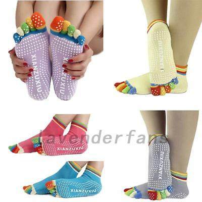 Five Toes Yoga Sock Pilates Fitness Gym Exercise Non-Slip Winter Warm Socks UK