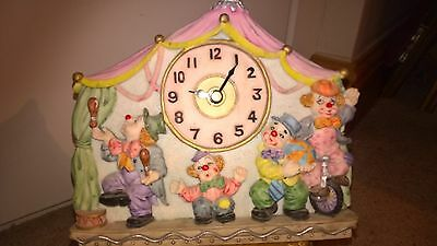 Vintage Clown Clock Shudehill Gifts Wall Mounting or Standing Novelty Colourful