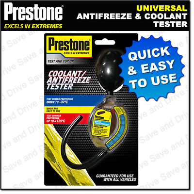 Prestone Antifreeze & Summer Coolant Tester Anti Freeze Hydrometer PAFR0005A