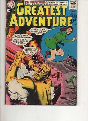My Greatest Adventure 82 Doom Patrol Fine+ 1962 Dc Silver Age Comic