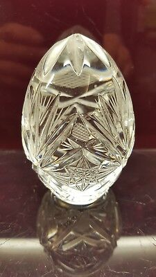 Paper Weight Hand cut Crystal Clear Glass Solid Egg Shape paper weight ornament