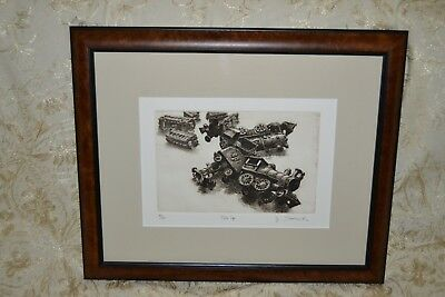 """Artist James A. Skvarch Limited Edition """"Pile Up"""" 61/75"""