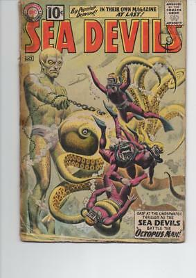 Sea Devils 1 Good Dc Silver Age Comic