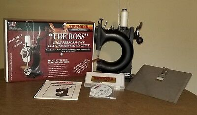"""Tippmann """"The Boss"""" HS Commercial Stitcher Sewing Machine w flat bed attachment"""