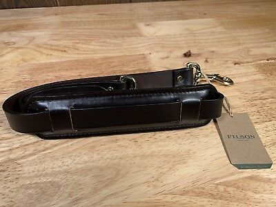 Filson Leather Briefcase Shoulder Strap 37 With Pad- New!