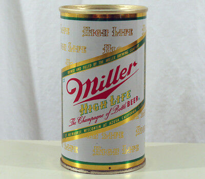 Miller High Life •azusa California• Super Clean Fan Tab Beer Can Milwaukee, Wisc