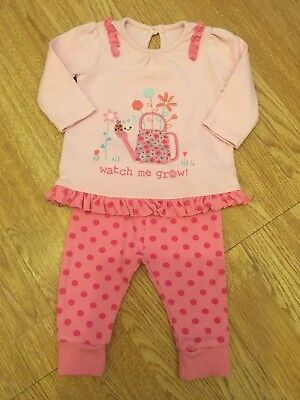 George Baby Girls Top & Spotty Trousers 3-6 Months