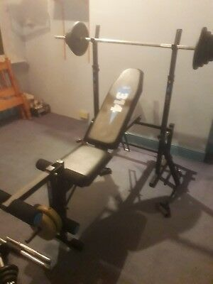 York Fitness Bench And Weights