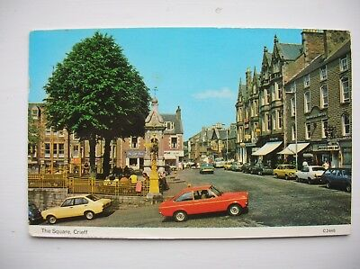 Crieff, The Square. (Dennis – 1980 – old cars)
