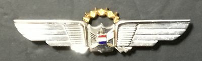 """Vintage United Airlines Pilots Crew Pin Back Wings 3 1/4"""""""