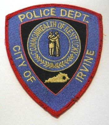 Old Irvine Kentucky Police Patch