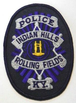 Indian Hills Rolling Fields Kentucky Police Patch Unused