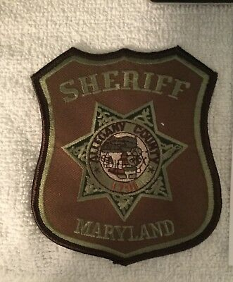 Allegany County Sheriff Subdued Sheriff Patch Md Rare
