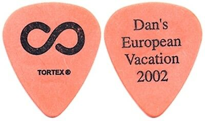 Hoobastank Dan Estrin 2002 tour Dan's European Vacation orange band Guitar Pick