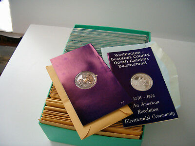 30 Sterling Silver 1976 Commemorative 30 Troy Oz Bicentennial Coins + 30 Bronze