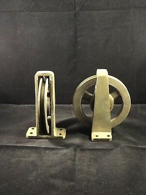 Bronze Brass Deck Pulleys Boat Ship Tackle Single Deck Pulley Tugboat (2)