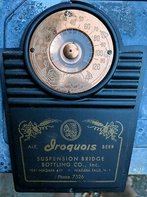 Iroquois Beer Thermometer Suspension Bridge Bottling Company