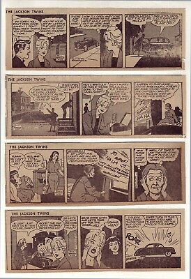 Jackson Twins by Dick Brooks - 26 daily comic strips - Complete April 1959