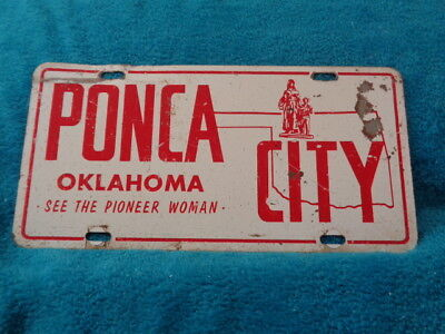 Oklahoma Ponca City booster license plate See the Pioneer Woman Rat Rod Hot Rod