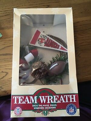 Wisconsin Badger's Team Wreath Made in USA LOOK