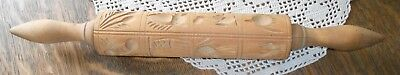 Vintage Springerle Rolling Pin 16 Patterns Kitchen Collectible