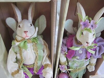 """Mark Roberts Mr & Mrs Easter Bunny Fairy Small 12"""" Limited Edition"""