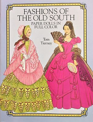 Fashions Of The Old South Puppe Buch, 1989, Uncut 16 Seiten, Tierney