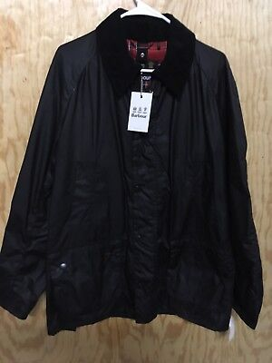 Barbour Mens Ashby Wax Jacket Size Large .  Color Black $399