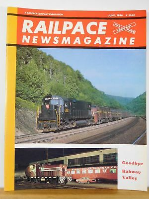 Rail Pace News Magazine 1986 June Railpace Rahway Valley South Amboy Local