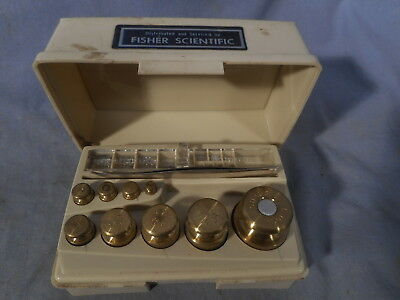 VINTAGE OHAUS STO-A-WEIGH CALIBRATION/FRACTIONAL WEIGHT SET IN CASE 1g - 100g