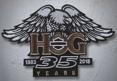 FULL COLOR H.O.G. 35th Anniv Patch ~ Harley Davidson Owners Group HOG -FREE SHIP