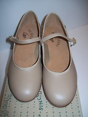 New Leo's Tan Leather Sole Tap Shoes  #406  -  Adult Size 4.0M