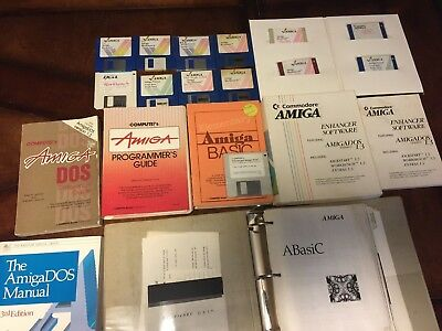 Amiga Users Guides, Compute's Dos, Basic + Programmers Guides, System Disks