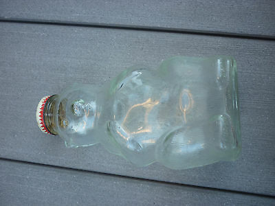 Vintage Glass Bear Bank - Snow Crest Beverages, Inc., Salem, Mass. Free Ship