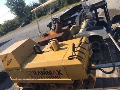 Rammax P33/24 HHMR Walk / Tow Trench Compactor Diesel Padfoot Roller Runs Great
