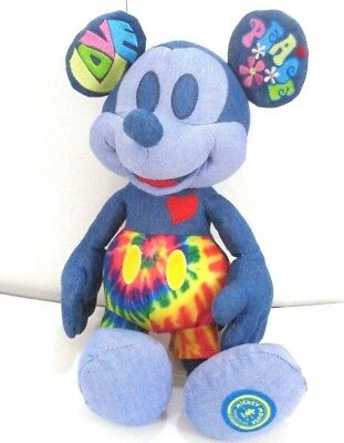 Mickey mouse memories june plush Disney store genuine Love and peace BNWT