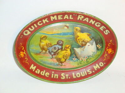 Nice Old Tin Litho Quick Meal Brand Ranges Advertising Tip Tray