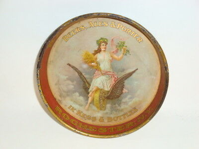 Nice Old Tin Litho Pre Prohibition Bartholomay Brand Beer Advertising Tip Tray
